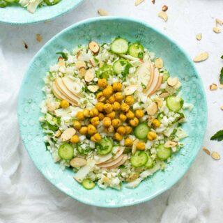 Summer Cauliflower Power Salad on a plate