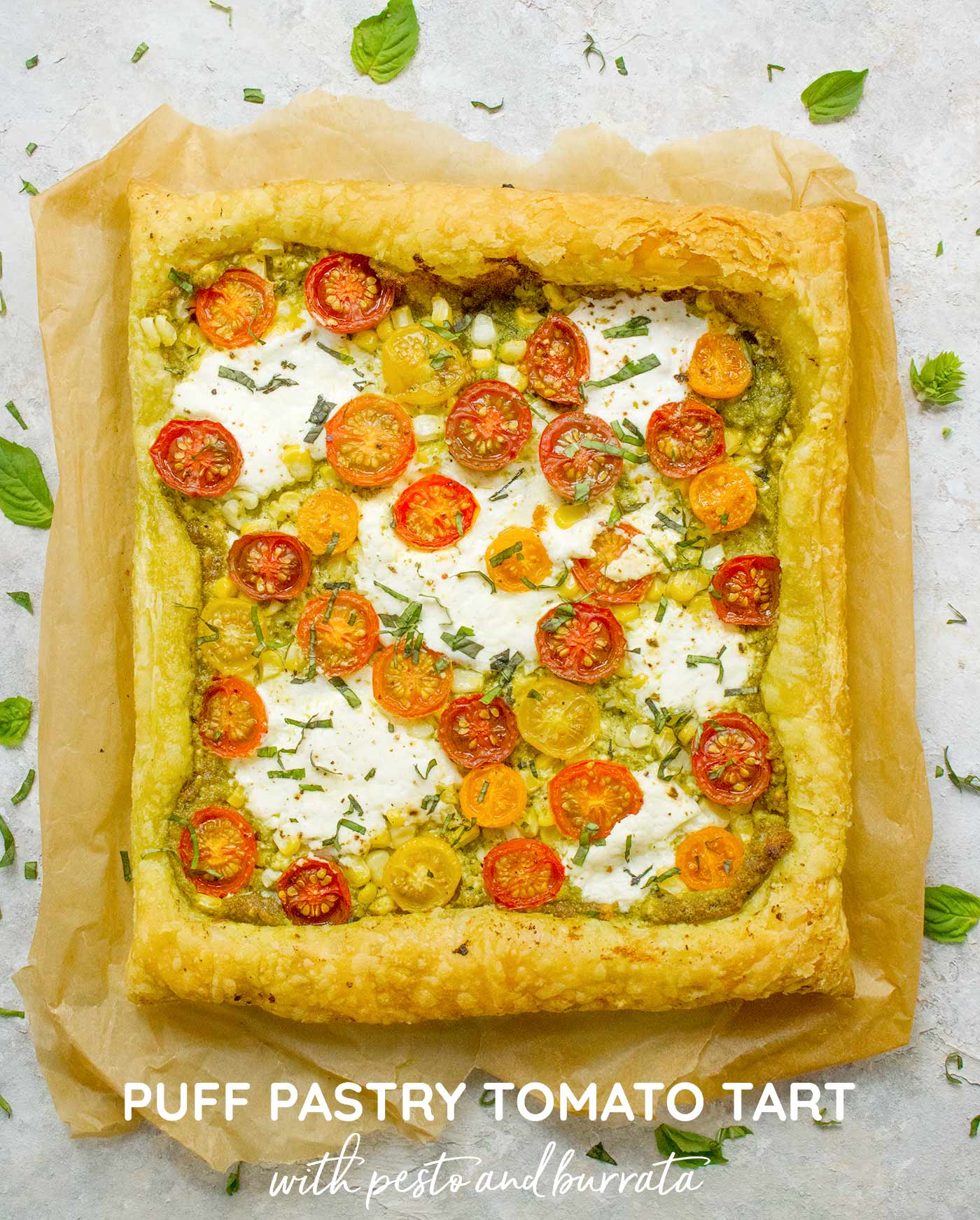 Puff Pastry Tomato Tart - Recipe at SoupAddict.com