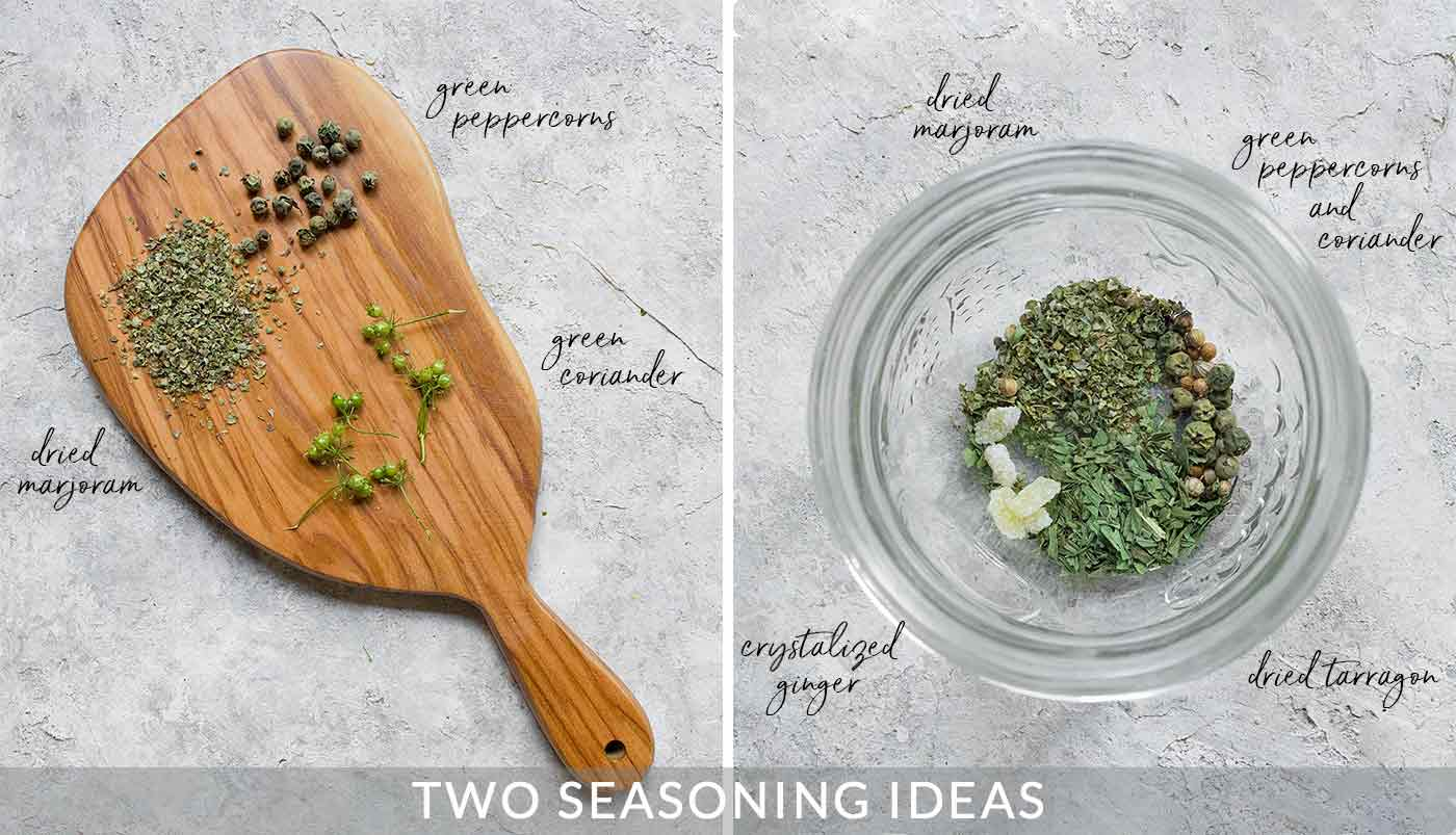 Seasoning options for Pickled Sweety Drops