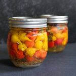 Two jars of pickled sweety drops