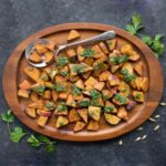 Spiced Sweet Potatoes with Cilantro Sauce