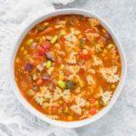 Bowtie Vegetable Soup