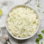 Cilantro lime rice with shallots