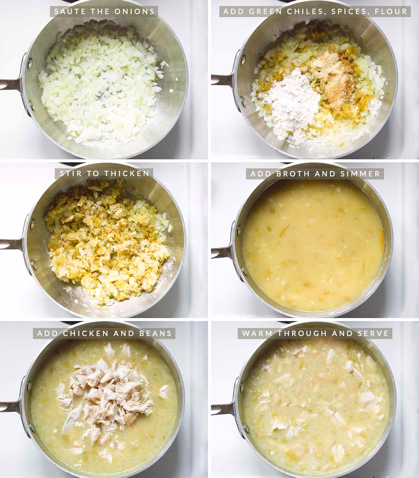 Steps for preparing quick and easy White Chicken Chili