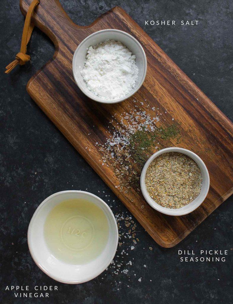 Seasonings for dill pickle garbanzos