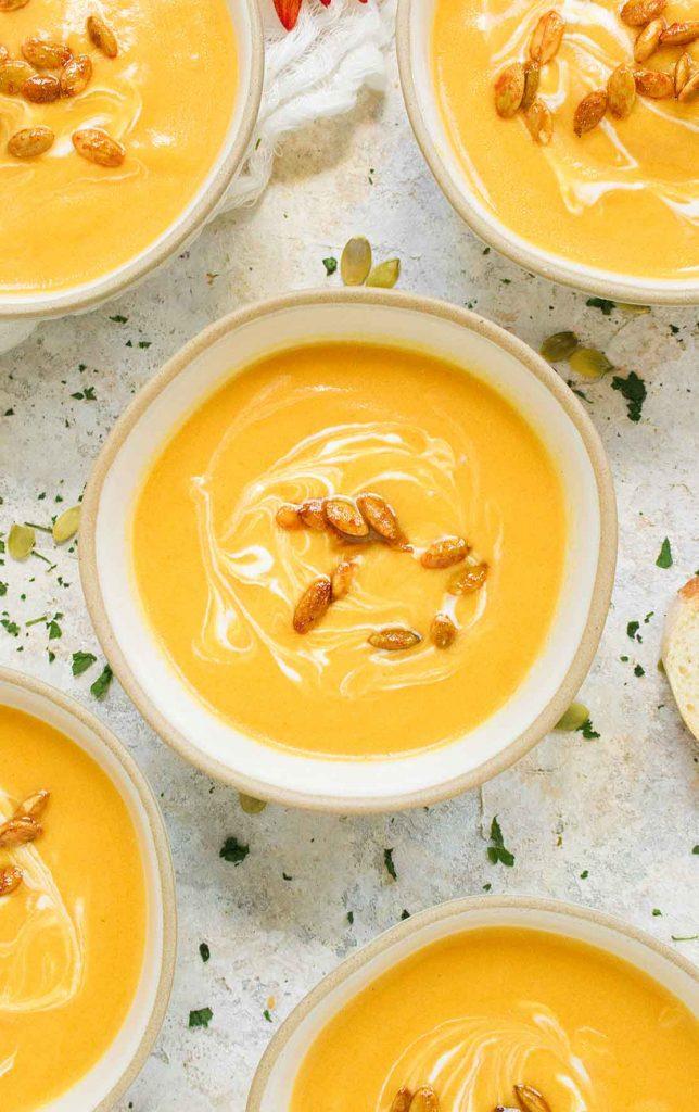 Autumn Squash Soup in a Dutch oven
